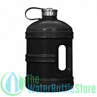 1 Gallon BpA Free Reusable Water Bottle Jug Stainless Steel Cap Solid Black New