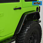 EAG Fender Flares Flat with LED Amber Side Marker Fits 07 18 Jeep Wrangler JK