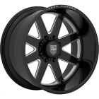 22x14 Gear Off Road F70bm1 Forged Black Milled Wheels 8x6.5 -76mm Set Of 4