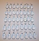 Lot of 40 Vintage Crystal Glass 2 Teardrop Prisms Octagon Buttons Table Lamps