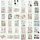 DIY Transparent Clear Silicone Stamp Stamps Scrapbooking Christmas Card Album