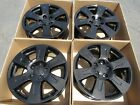 18 HONDA RIDGELINE ODDESEY WHEELS RIMS GLOSS BLACK SET 4 CAPS INCLUDED