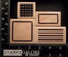 PAPER INSPIRATIONS RUBBER STAMPS LOT 4 BACKGROUND FRAMES DOTS LINES 954