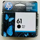 New Genuine HP 61 Black Ink Cartridge Officejet 2620 Envy 4501 4507 Exp 2020