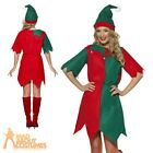 Adult Elf Costume Ladies Christmas Fancy Dress Womens Xmas Outfit