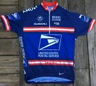 Vintage USPS Nike TREK US Postal Service Cycling Jersey Mens Large Dri Fit