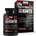 Force Factor Test X180 Ignite Testosterone Booster 120 Count Build Muscle NEW