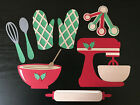Holiday Christmas Baking Set 8 Pieces Scrapbooking Paper Piecing Embellishment