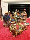 Jim Shore 2004 Nativity Ornaments Enesco Christmas Set of 9