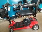 Pride Mobility Go Go Ultra X 4 Wheel Electric Battery Travel Scooter Red Used