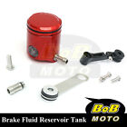 For Ducati Monster 1100 S 08 09-13 Red CNC Front Brake Cylinder Fluid Oil Tank