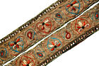 Vintage Sari Lace Border Trim Embroidered Sewing Antique Ribbon Lace 1 Yd ST1957