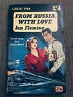 Rare From Russia with Love 1st 2nd ed VG Ian Fleming Pan 1959 James Bond G229