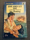 Rare Live and Let Die 1st 2nd Pan PB Ian Fleming 1958 VG GP83 James Bond
