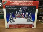 Vintage Lemax Christmas Village Set Stereo Cassette Player Xmas Tree Display IOB
