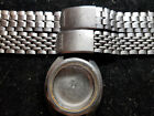 VINTAGE 1969 SEIKO 5126-7020 WATCH CASE AND 2 BANDS MISSING END LINKS FOR PARTS