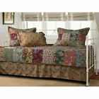 Country Floral Paisley Patchwork Twin Daybed 5 pc Cotton Quilt Set Cover Bedding
