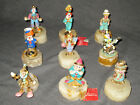 LOT OF 9 RON LEE COLLECTABLE CLOWNS FIGURINES Dated Numbered