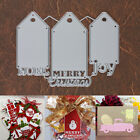 Merry Christmas Noel and Joy Gift Tags Cutting Dies 3 Piece Set Holiday Words