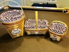 Longaberger lot 3 Sweetheart baskets, Liners, Protectors, Tie Ons. 1995, 96, 97!
