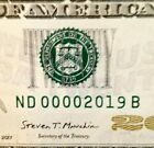 FANCY BIRTH YEAR ANNIVERSARY serial  0000 2019 on a 20  non star 2017