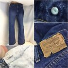 70s Vintage Levis 517 Jeans 34x29 Dark 3 Care Tag 8 Button USA YGI D9 371