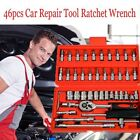 46pc 1 4 Car Repair Tool Set Mixed Tools Screwdriver Sets Wrenches Ratchets Kit