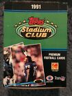 1991 NFL Topps Stadium Club Box
