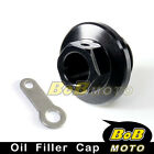 CNC Engine Black Oil Filler Cap For HUSQVARNA TE400 2002-2007 02 03 04 05 06 07