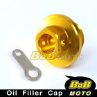 CNC Engine Gold Oil Filler Cap For HUSQVARNA TE400 2002-2007 02 03 04 05 06 07