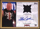 Brock Lesnar 2016 WWE Topps Walmart Exclusive Gold Relic Auto 10 🔥