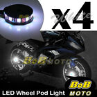 Custom Center White 5050 LED Wheel Pod Accent Light Set For Buell Motor Bike