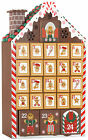 BRUBAKER Advent Calendar Wooden Gingerbread House with 4 LED Lights 103 x 1