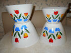 VINTAGE FIRE KING TULIP STACKING BOWL SET OF 4 EXCELLENT