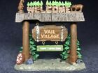 Lemax Vail Village Welcome Sign, Christmas
