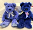 TY Beanie Buddies SET OF 2 BEARS - CLUBBY I & II NEW NWT ~ Came directly from TY