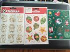 Hallmark & Foil Color Cling Christmas Stickers Your Choice NEW