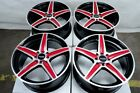 16 4x100 4x1143 Red Rims Fits Toyota Yaris Prius C Echo Corolla 4 Lug Wheels