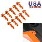 Aluminum Tapping Fairing Screws 10PCS For KTM 125 150 200 300 350 450 XC-W XCF-W