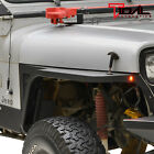 Tidal Front Fender with Flare and LED Eagle Lights Fit 87 96 Jeep Wrangler YJ
