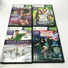 Xbox 360 Kinect Lot of 4 Games Zumba Dance Central Biggest Loser Your Shape VG