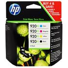 HP Genuine 920XL B CMY 4 Pack Ink for Officejet 6000 6500 7000 7500