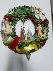 The Thomas Kinkade Nativity Wreath 16 Diameter Christmas Angels Glory King