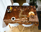 3D Golden Deer B63 Christmas Tablecloth Table Cover Cloth Birthday Party Zoe