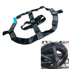 1x Motorcycle Rear Wheel Handlebar Transport Bar Tie Down Strap Black Polyester