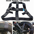 Motorcycle Rear Wheel Transport Wide Fixing Strap Black High Strength Polyester