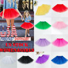 Women Girl Princess Tulle Tutu Skirt Adult Kid Ballet Dance Party Mini Dress USA