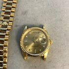 Rolex Day-Date Auto Yellow Gold Diamonds Mens Watch Bracelet 18238 Selling As-Is