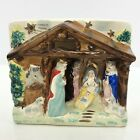 Ceramic Nativity Vintage Relco Religious Manger Creche Hand Painted Japan 5 x 6