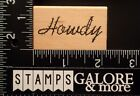 COMOTION RUBBER STAMPS HOWDY COUNTRY WESTERN SAYING 1369